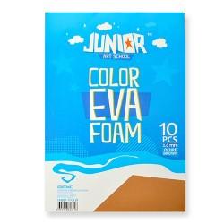 Kreatív Junior dekor gumilap A/4, barna, 10 db/csomag