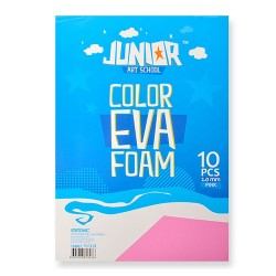 Kreatív Junior dekor gumilap A/4, rózsaszín, 10 db/csomag