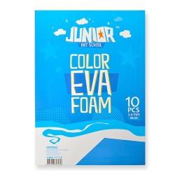 Kreatív Junior dekor gumilap A/4, kék, 10 db/csomag