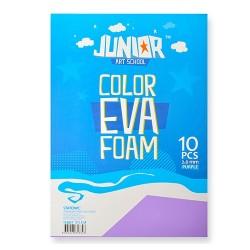Kreatív Junior dekor gumilap A/4, lila, 10 db/csomag