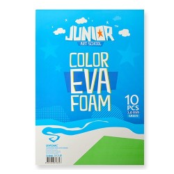 Kreatív Junior dekor gumilap A/4, zöld, 10 db/csomag