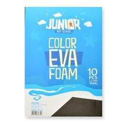 Kreatív Junior dekor gumilap A/4, fekete 10 db/csomag