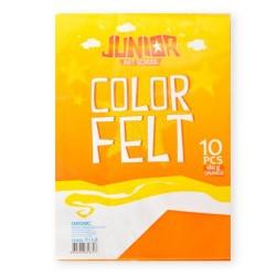 Kreatív Junior filc lapok A/4, narancssárga, 10 db/csomag