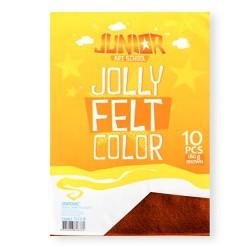 Kreatív Junior filc lapok A/4, barna, 10 db/csomag