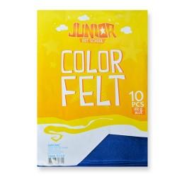 Kreatív Junior filc lapok A/4, kék, 10 db/csomag