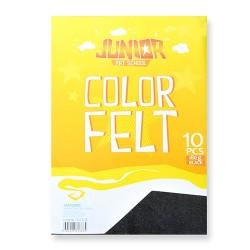 Kreatív Junior filc lapok A/4, fekete, 10 db/csomag