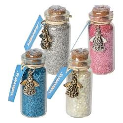 Kreatív Junior csillám üvegcsében, parafadugóval, vegyes színek