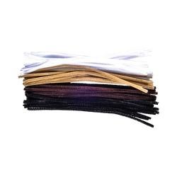 Kreatív Junior zseníliaszál vegyes sötét színek, 30 cm, 25 db, 6 mm