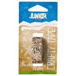 Kreatív Junior csillámos ragasztószalag, arany, 15 mmx1 m