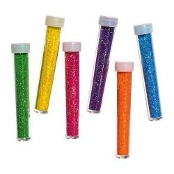 Kreatív Junior csillám neon kis kiszerelés, vegyes, 6 db/csomag