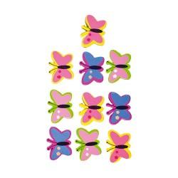 Kreatív Junior fa pillangó, 12 db/csomag