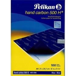 Indigó Pelikán Hand Carbon A/4 kék 100 lap/csomag 500H