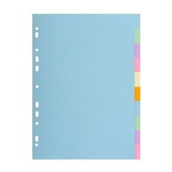 Elválasztólap karton Exacompta A/4 10 részes színes 170 g