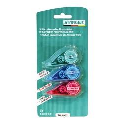 Hibajavító roller Stanger Allcover 5 mm x 5 m mini eldobható vegyes színek 3 db/bliszter