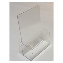 Prospektustartó A/5 asztali áttetsző DP-1114