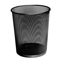 Papírkosár Fornax fémhálós fekete