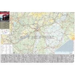 Térkép Stiefel fali Magyarország súlykorlátozása fémléces fóliázott