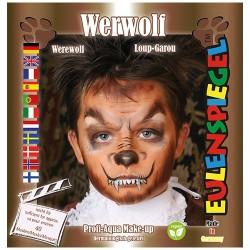 Kreatív arcfesték ES 4 db-os klt. barna farkasember