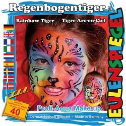 Kreatív arcfesték ES 4 db-os klt. szivárvány tigris