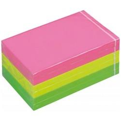 Öntapadós jegyzettömb 3M Post-it 76x127 mm neon színek 12776-N
