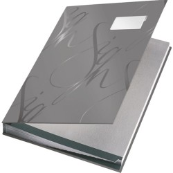 Aláírókönyv Leitz karton 18 részes szürke 57450085