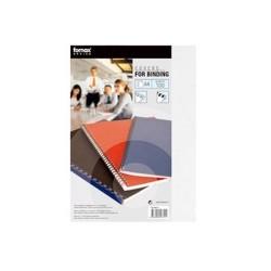 Hátlap Fornax A/4 250gr 1/100 matt (bőrhatású) fekete