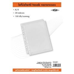 Lefűzhető tasak pd A/4 38 mic. narancsos 100 db/csomag