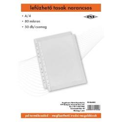 Lefűzhető tasak pd A/4 80 mic. narancsos 50 db/csomag