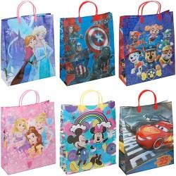 Dísztasak műanyag Disney 21x25x8,5cm 6féle minta