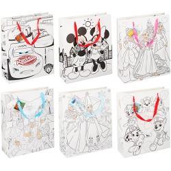 Dísztasak Disney 32x12x39cm kiszínezhető 6féle minta
