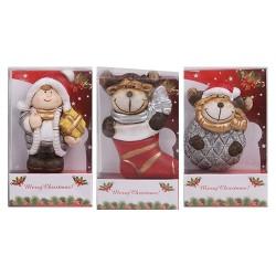 Hűtőmágnes karácsonyi 7 cm gyerek/2 féle rénszarvas ( kerámia )
