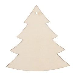 Kreatív fa festhető karácsonyfadísz 9,8 x 10 cm fenyő natúr 6 db/csomag
