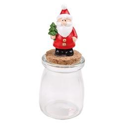 Karácsonyi polirezin télapó 14 cm dugós üvegen