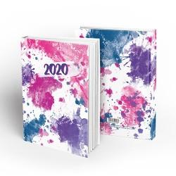 Határidőnapló pd A/5 napi Art of Colors - Violet 2020