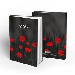 Határidőnapló pd A/5 napi Poppies 2020