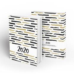 Határidőnapló pd A/5 napi Black & Gold 2020