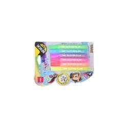 Kreatív ragasztó glitter 6 (szín) x 12ml / Neon
