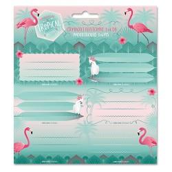 Füzetcímke Ars Una 3 x 6 db/csomag Pink Flamingo (868) 18