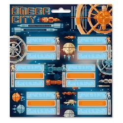 Füzetcímke Ars Una 3 x 6 db/csomag Omega City (908) 19