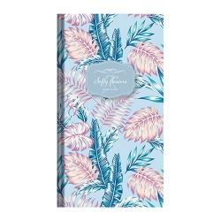 Zsebnaptár Softy flowers heti álló Blue garden 07