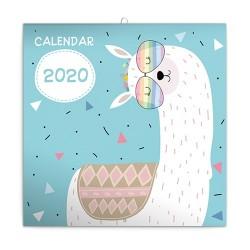 Naptár fali Realsystem 6097 lemez 30x30 cm Happy Llamas