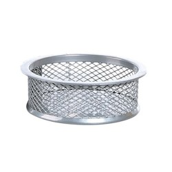 Gémkapocstartó fémhálós Fox ezüst