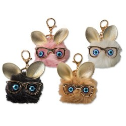 Kulcstartó Junior Pompom állati arcok