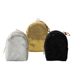 Kulcstartó Junior mini hátizsák glitteres