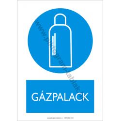Gázpalack rendelkező piktogram tábla