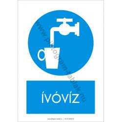 Ivóvíz rendelkező piktogram tábla