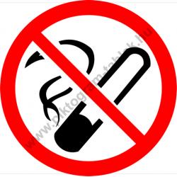 Dohányozni tilos tiltó piktogram matrica