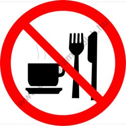 Étkezni, inni tilos tiltó piktogram matrica