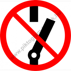 Kikapcsolni tilos tiltó piktogram matrica