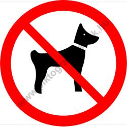 Kutyát bevinni tilos tiltó piktogram matrica